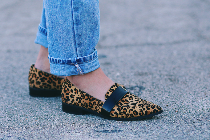 nasty gal leopard loafers