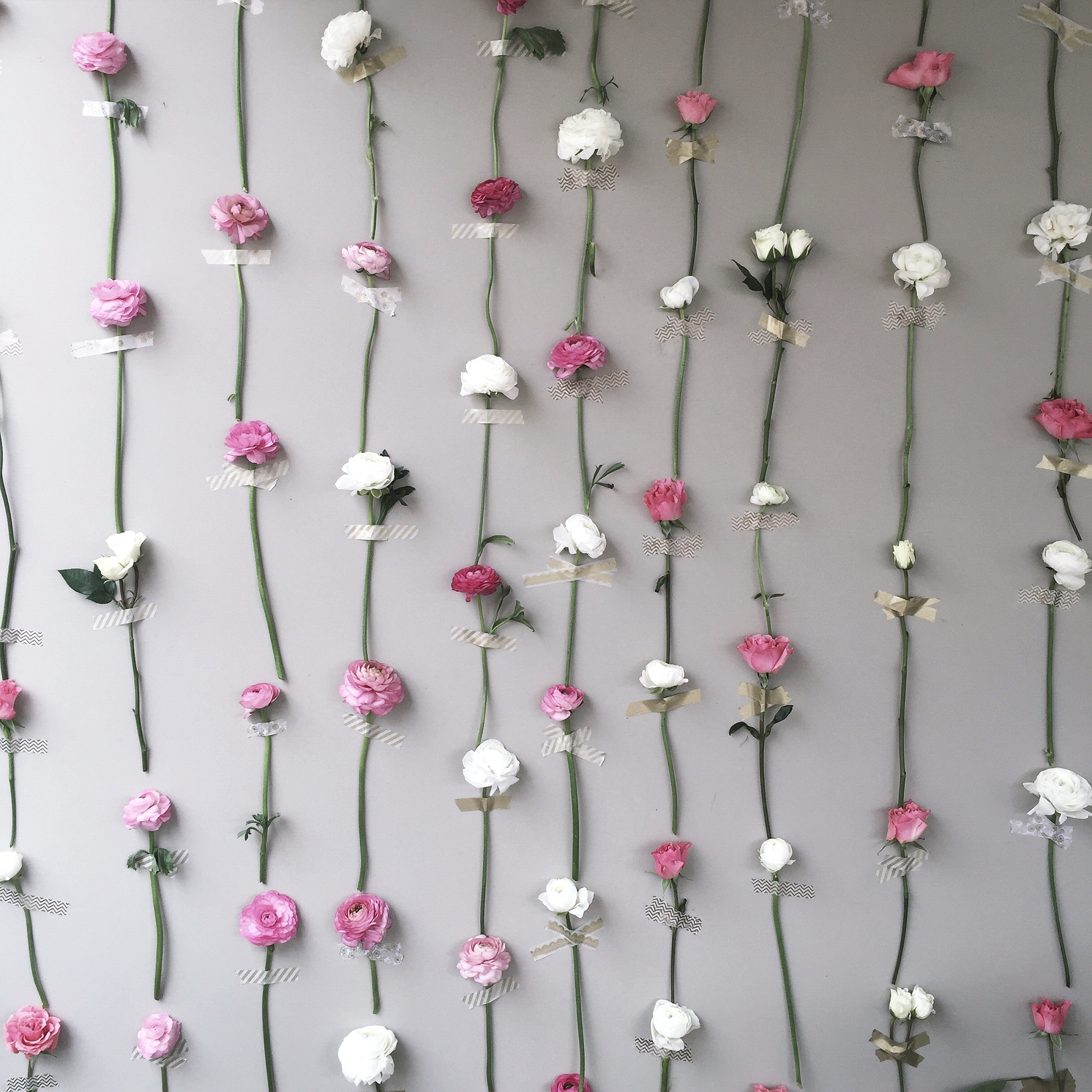 Diy Flower Wall Thrifts And Threads