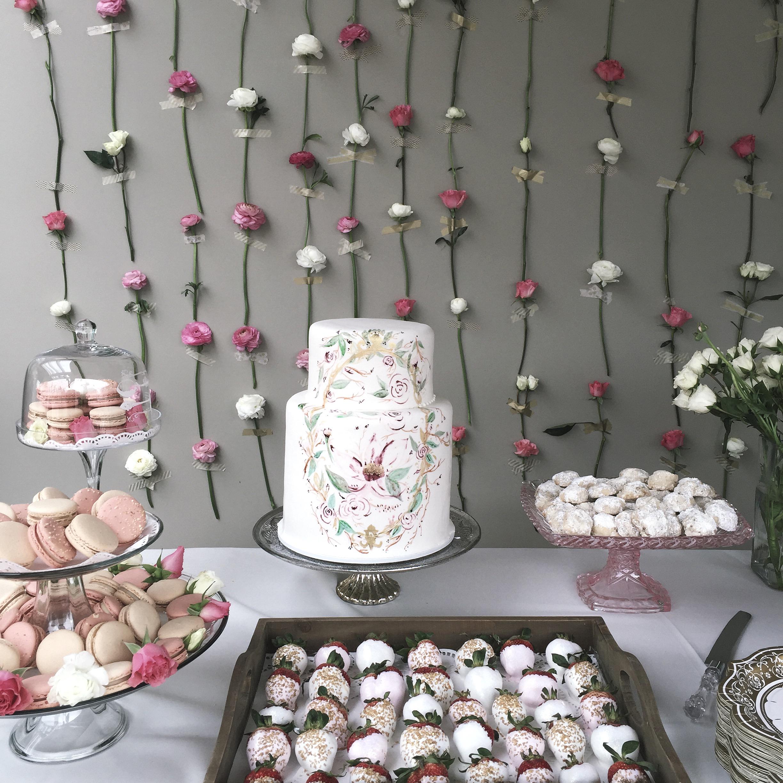 DIY Bridal Shower Flower Wall