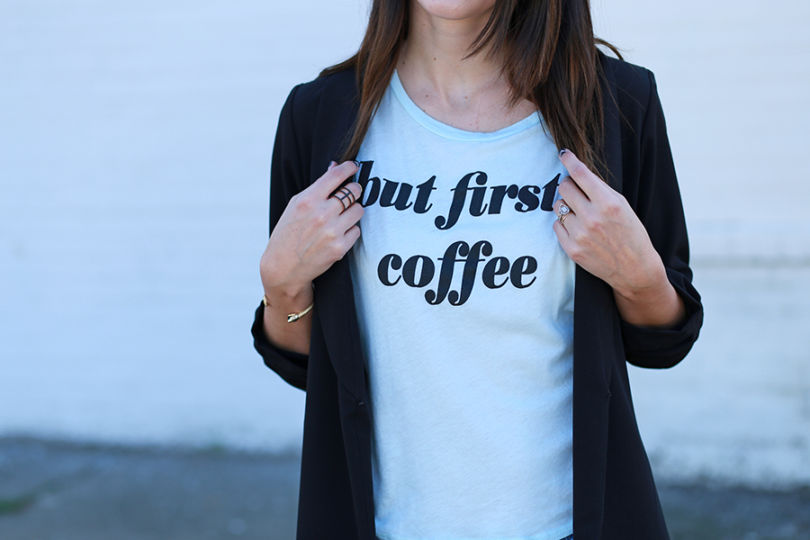 forever21 but first coffee tee