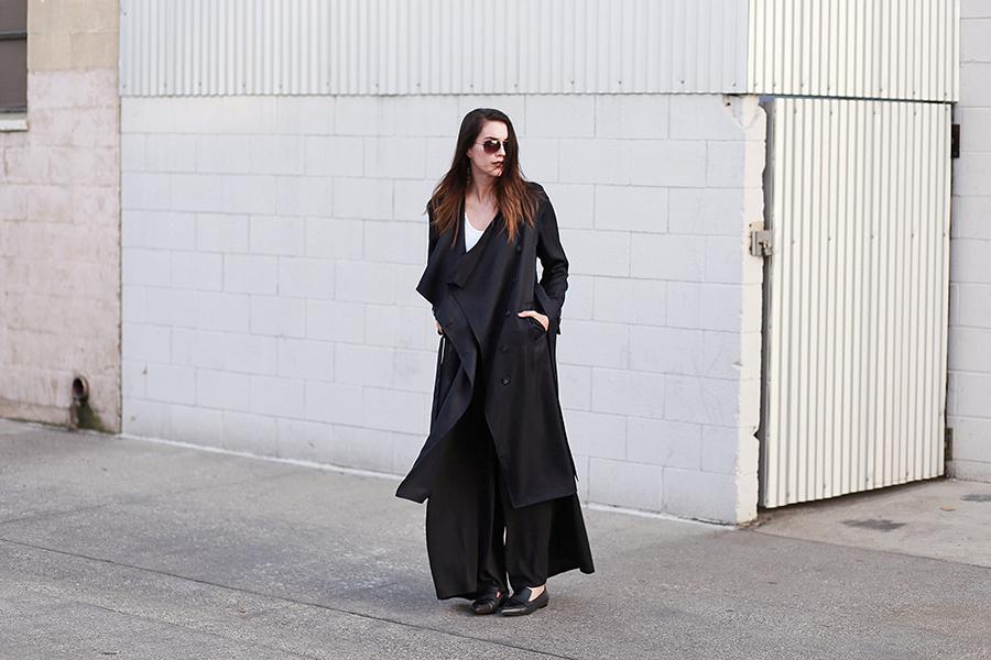 ro&de noir trench coat and pants