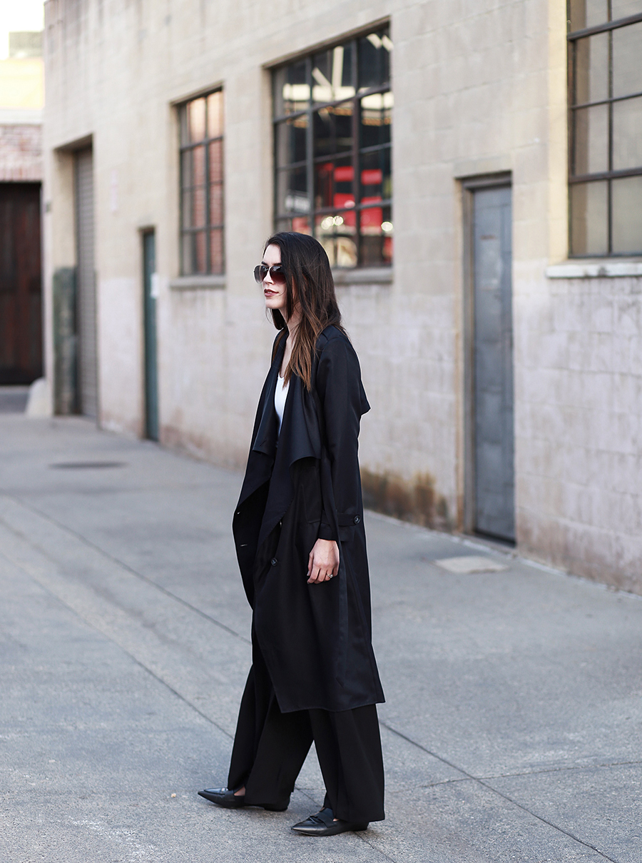 ro&de noir trench coat and pants