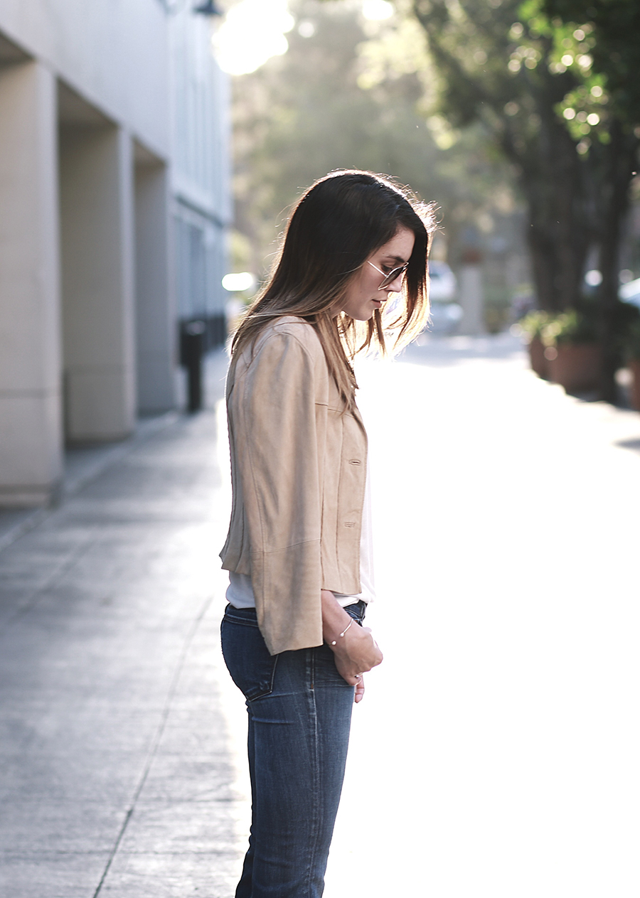 suede jacket denim flares 1