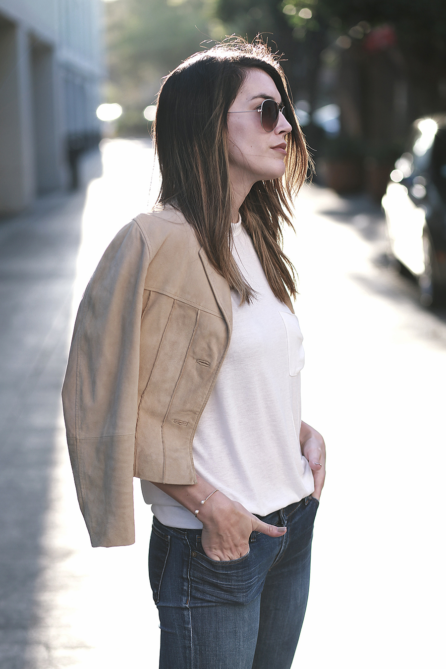 suede jacket denim flares 2
