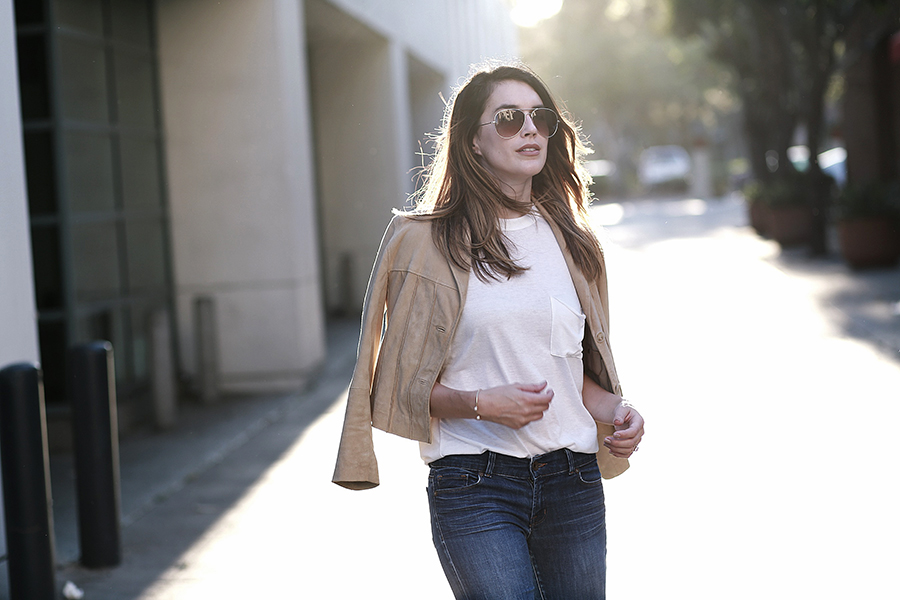 suede jacket denim flares 4