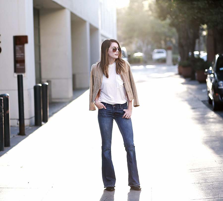 suede jacket denim flares 5