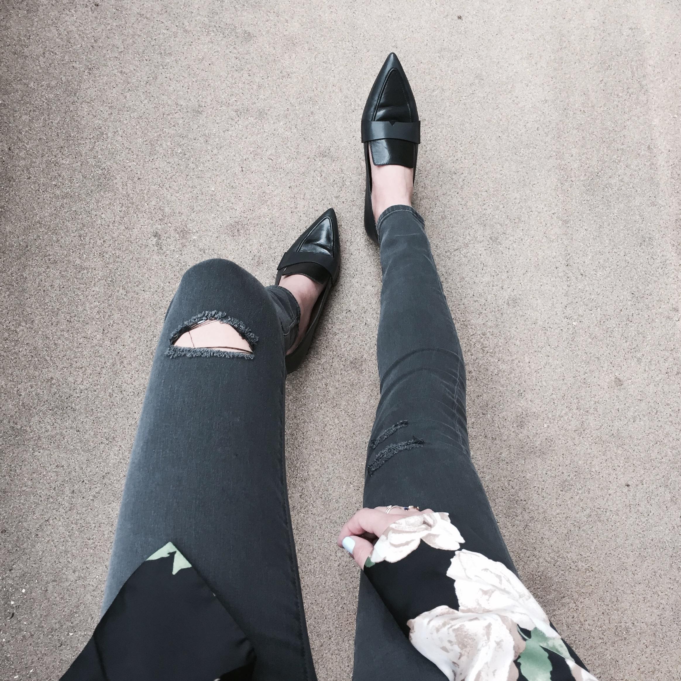 DSTLD Skinny Jeans Mango Loafers