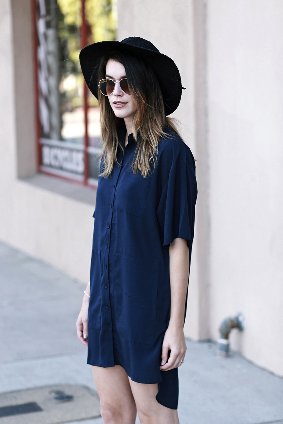 shirt dress gladiator sandals forever 21 hat 7