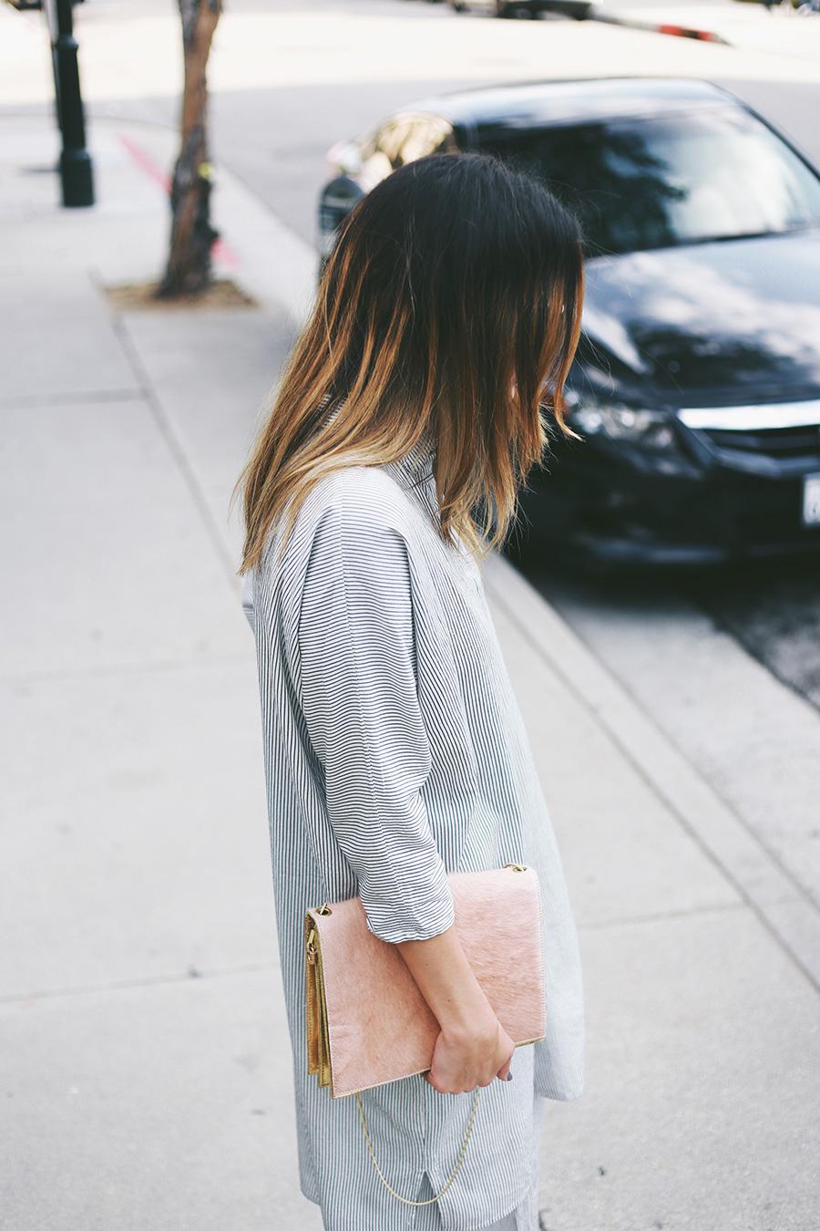 ganni blouse shirt and bag 1