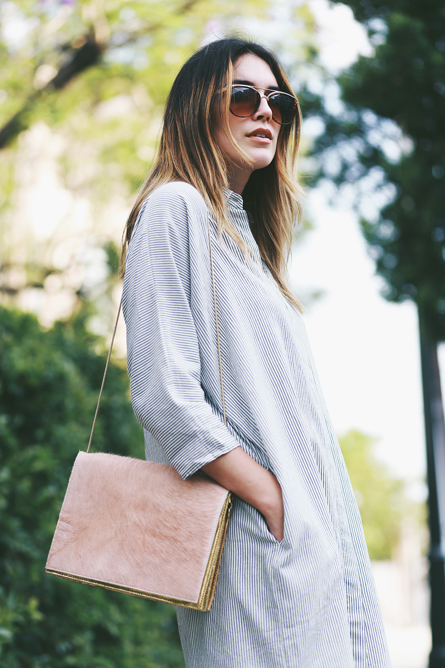 ganni blouse shirt and bag 2