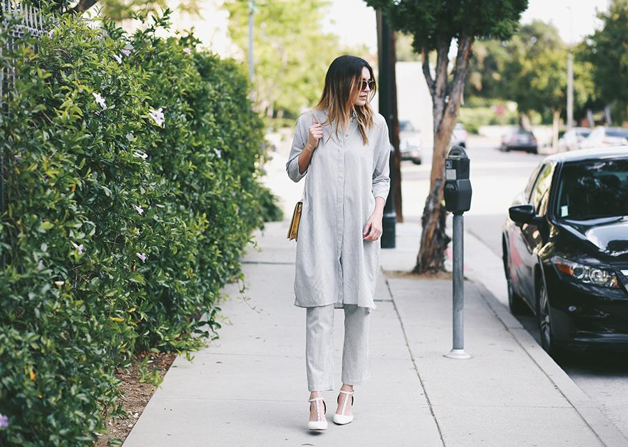 ganni blouse shirt and bag 4