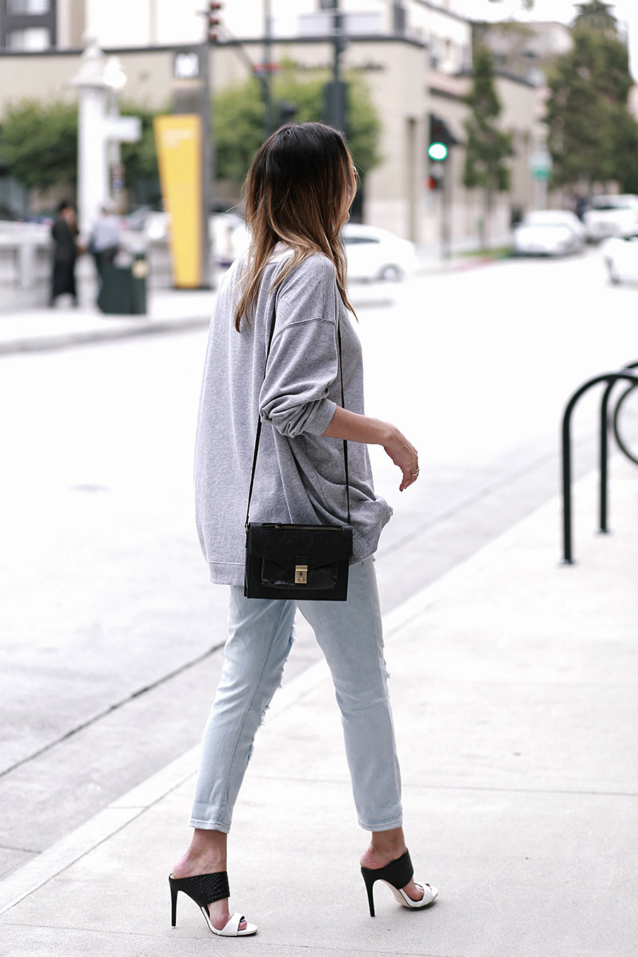 hm sweater guess jeans guess heels asos crossbody 6