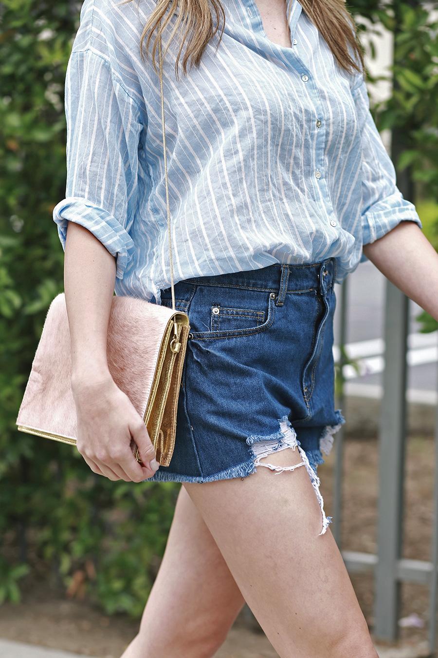 hm top forever21 shorts pixie market sandals ganni handbag 5