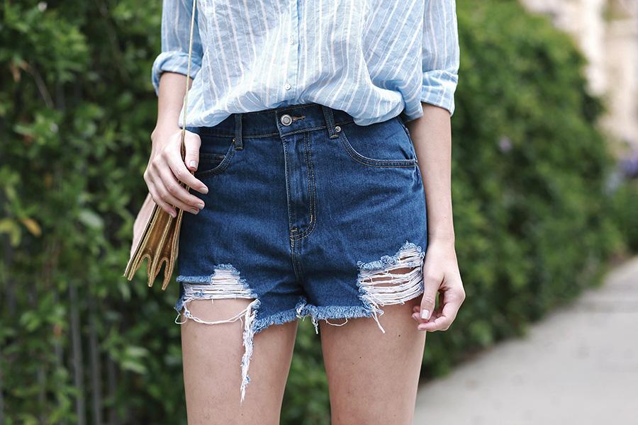hm top forever21 shorts pixie market sandals ganni handbag 7