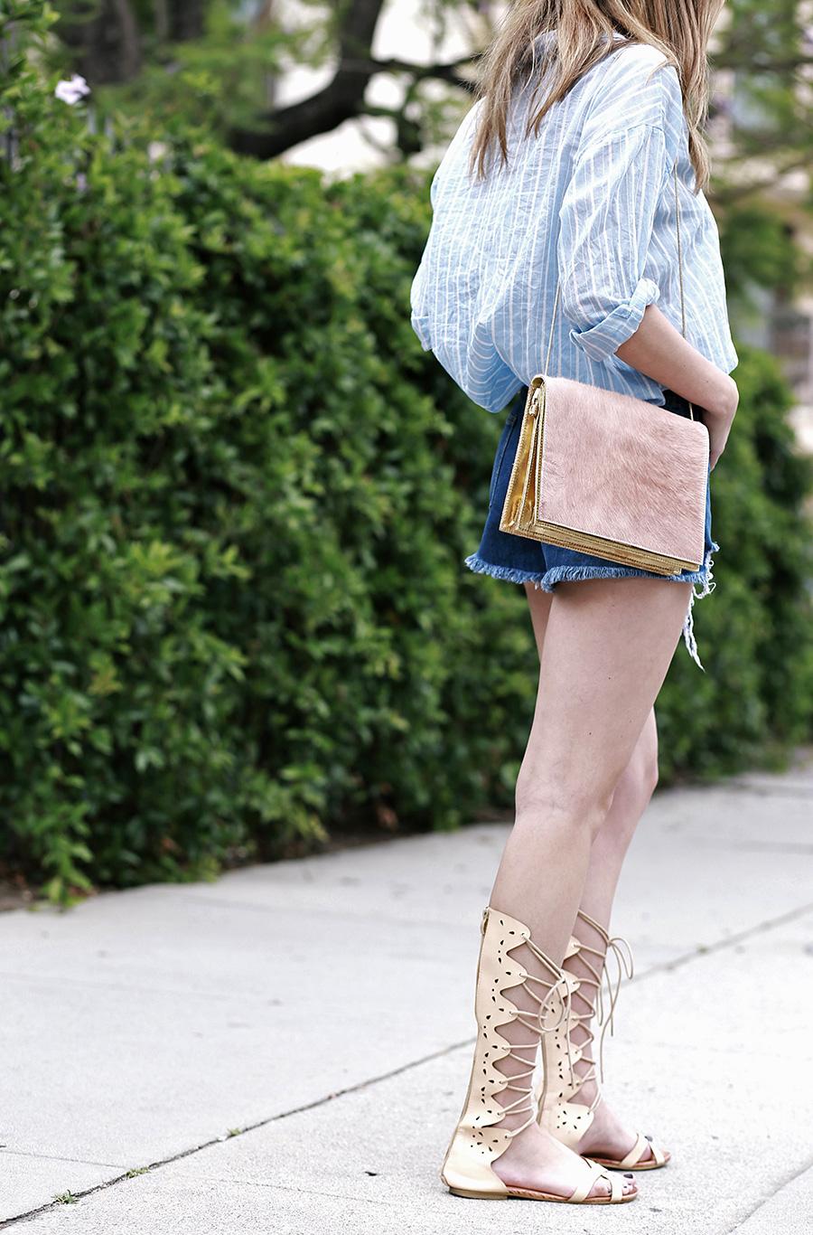 hm top forever21 shorts pixie market sandals ganni handbag 8