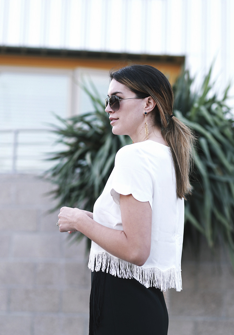 missguided fringe skirt blouse 7