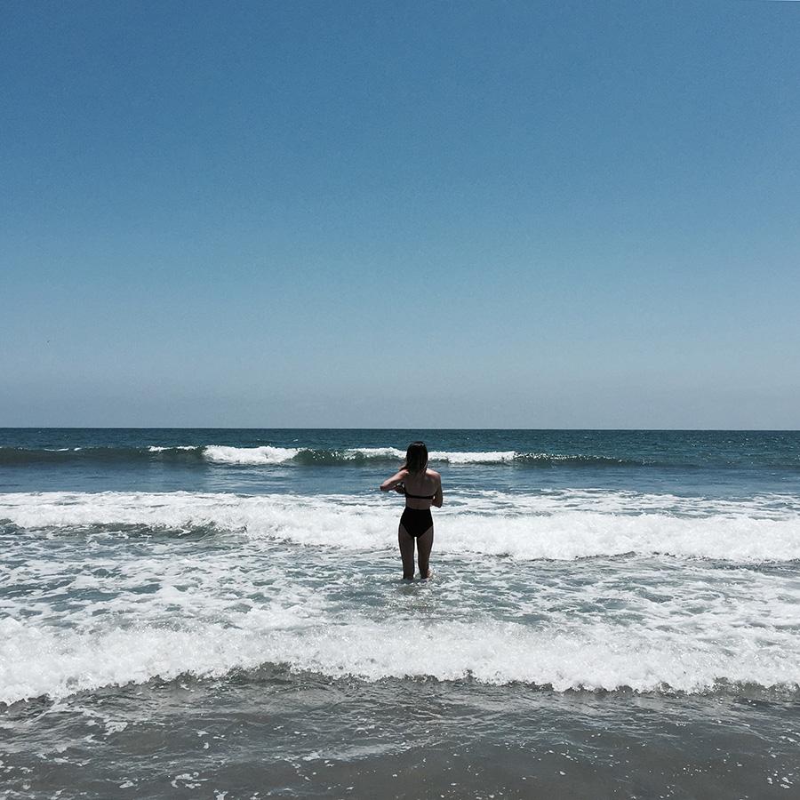 coronado beach asos black bikini