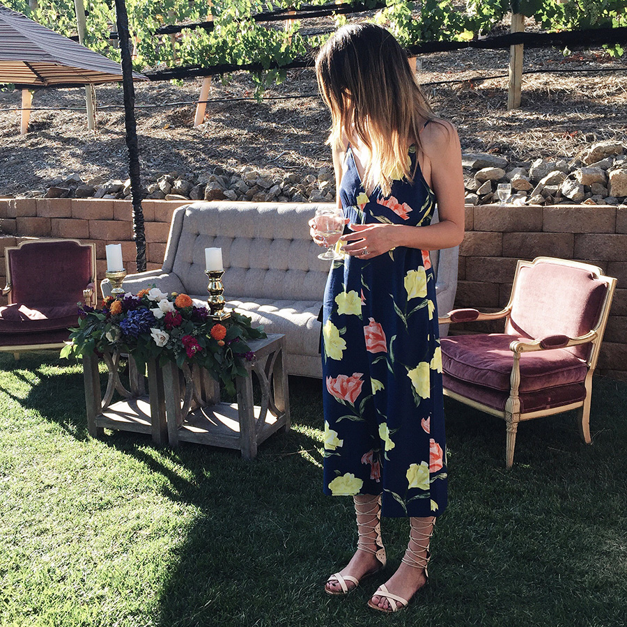 welks resort dinner forever21 floral jumpsuit
