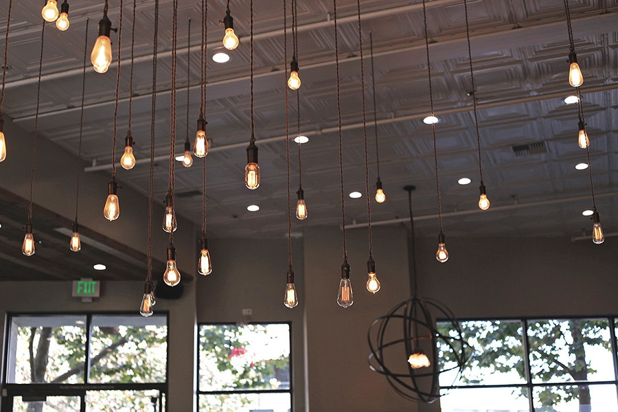 Verve Coffee Roasters Santa Cruz California lights