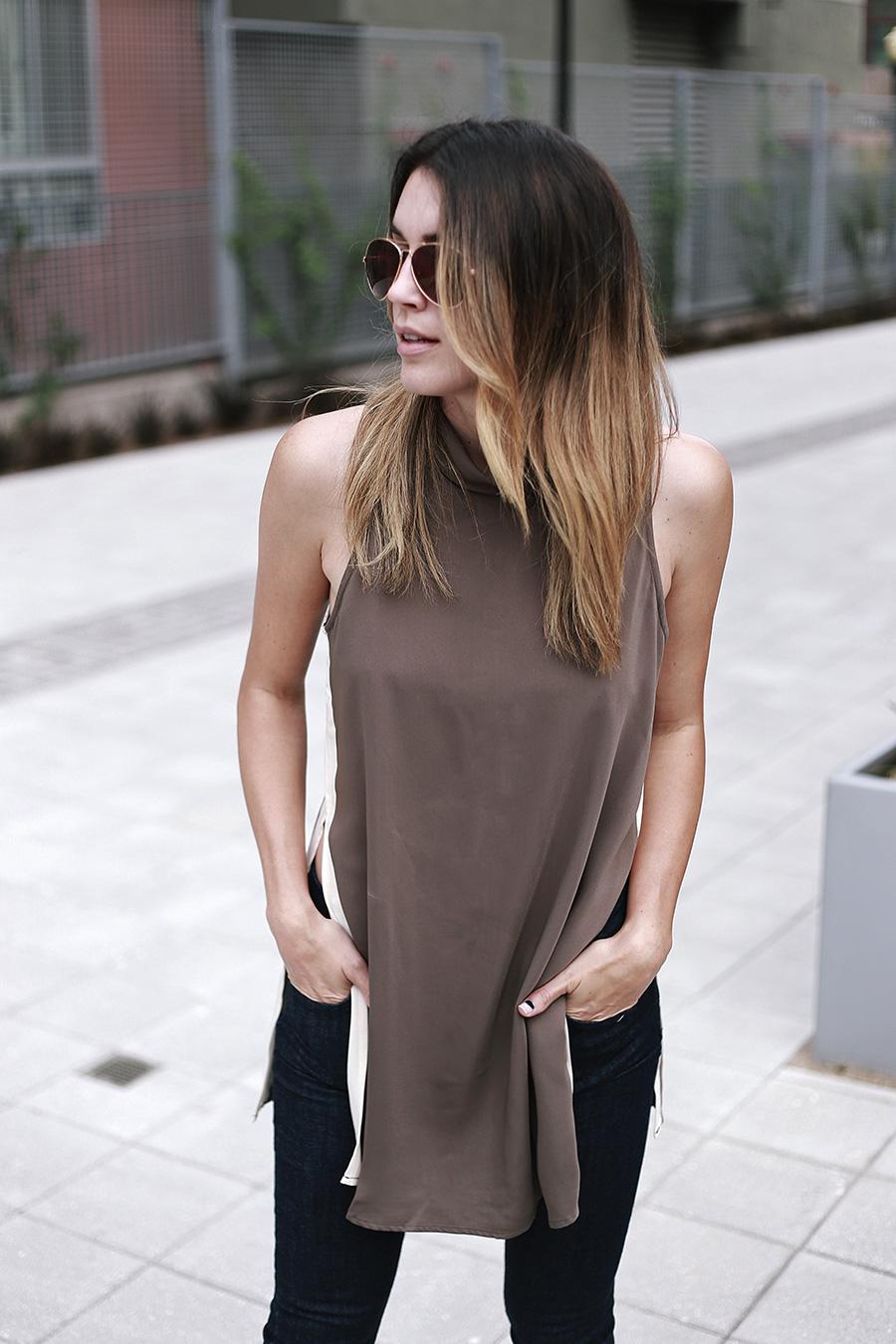 forever21 side slit tunic forever21 denim white heels thrifts and threads 1