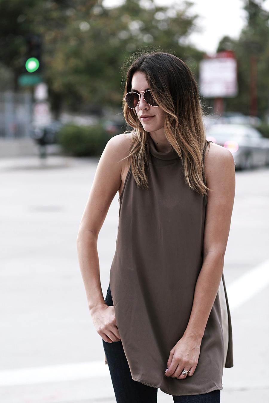 forever21 side slit tunic forever21 denim white heels thrifts and threads  2