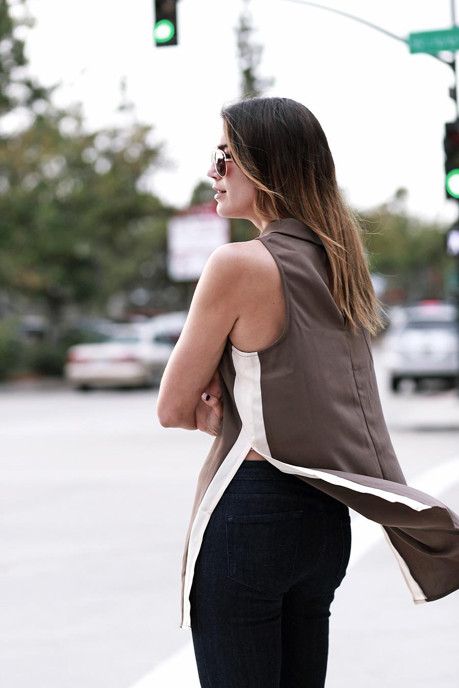 forever21 side slit tunic forever21 denim white heels thrifts and threads  9