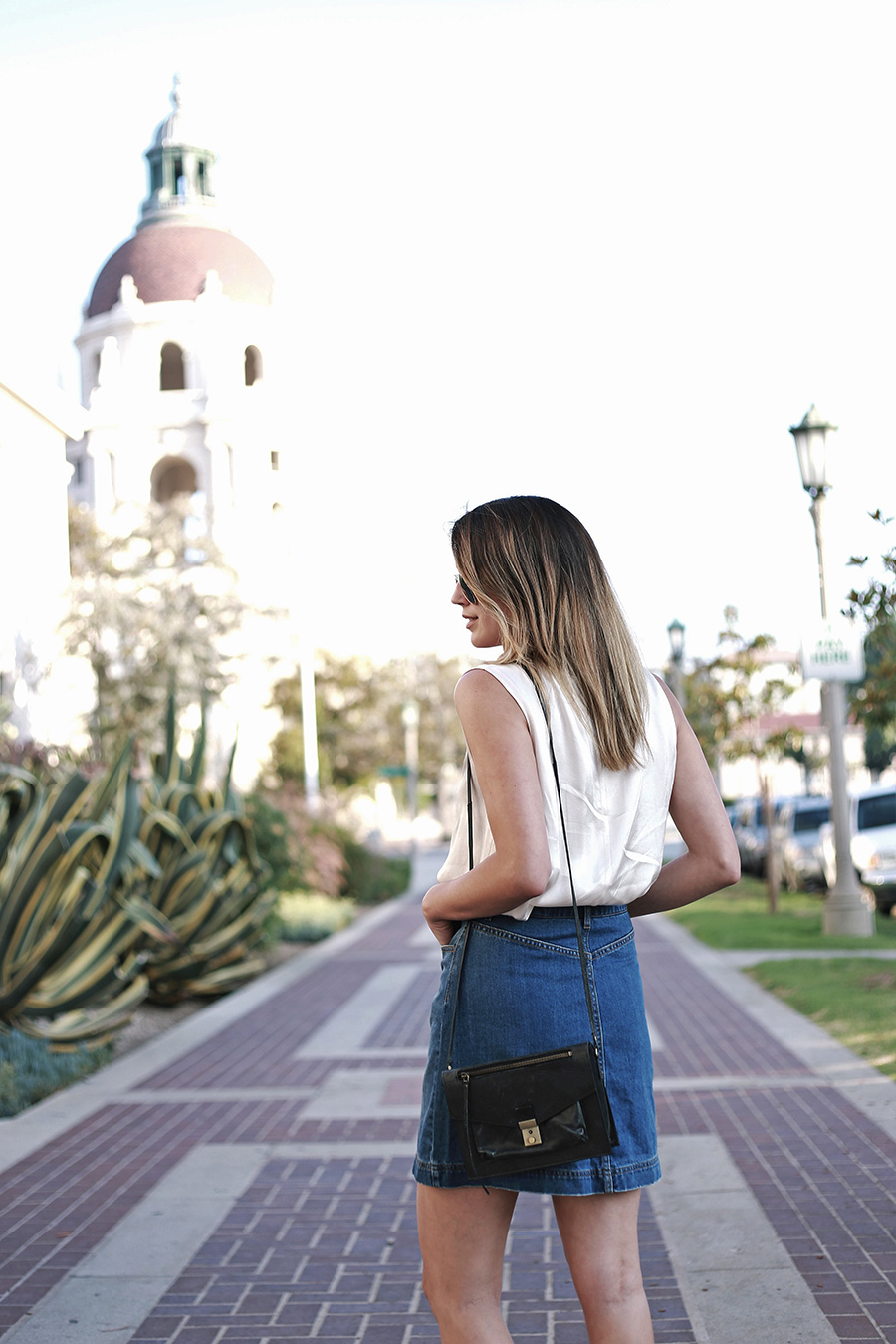 hm denim skirt forever21 blouse leopard flats 6