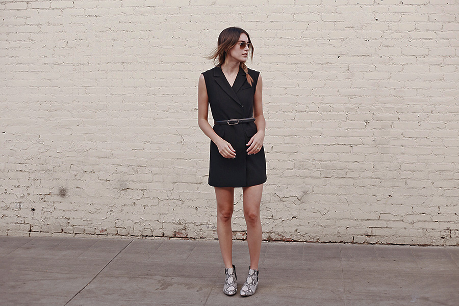 Belt with dress, Black Dress, Leather Belt, Braids, Skakeskin, Fall 2015, brittanyxavier.com