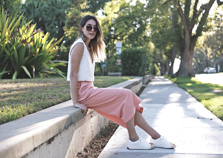 Culottes Aldo Rose Gold Sneakers 4