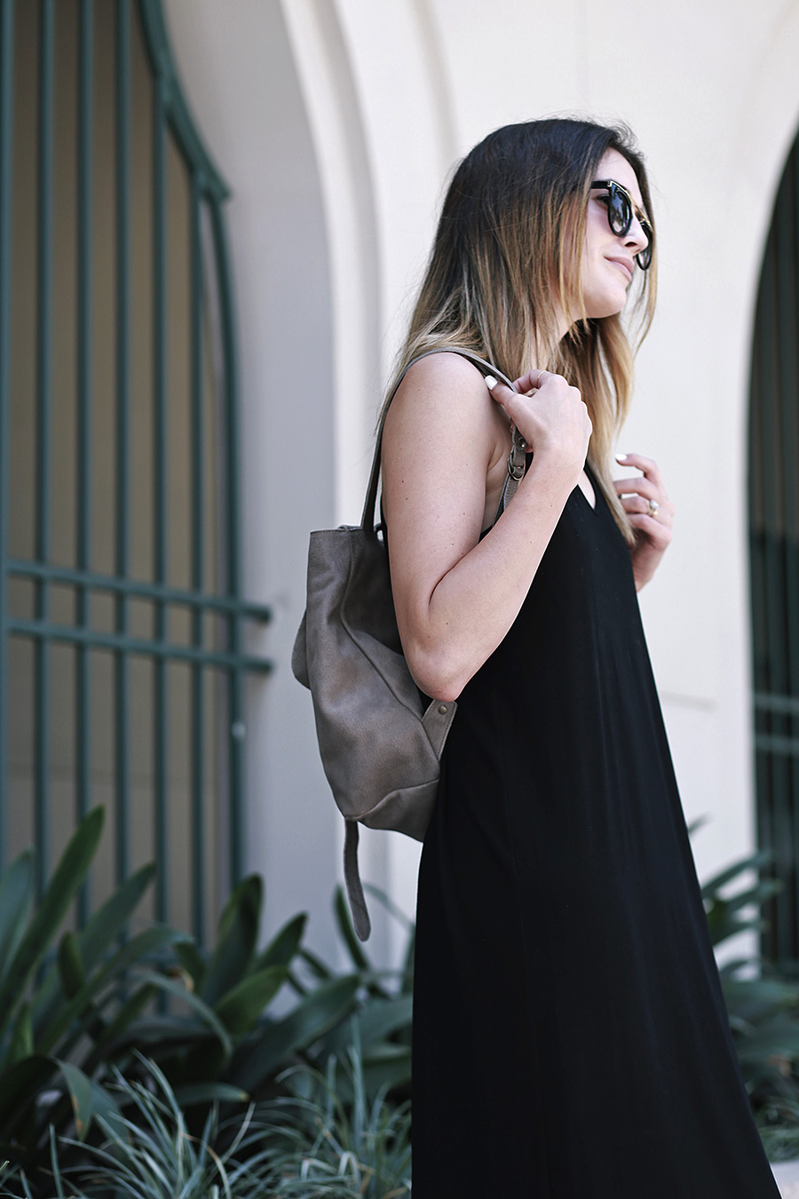 Eileen Fisher Black Dress Backpack 1