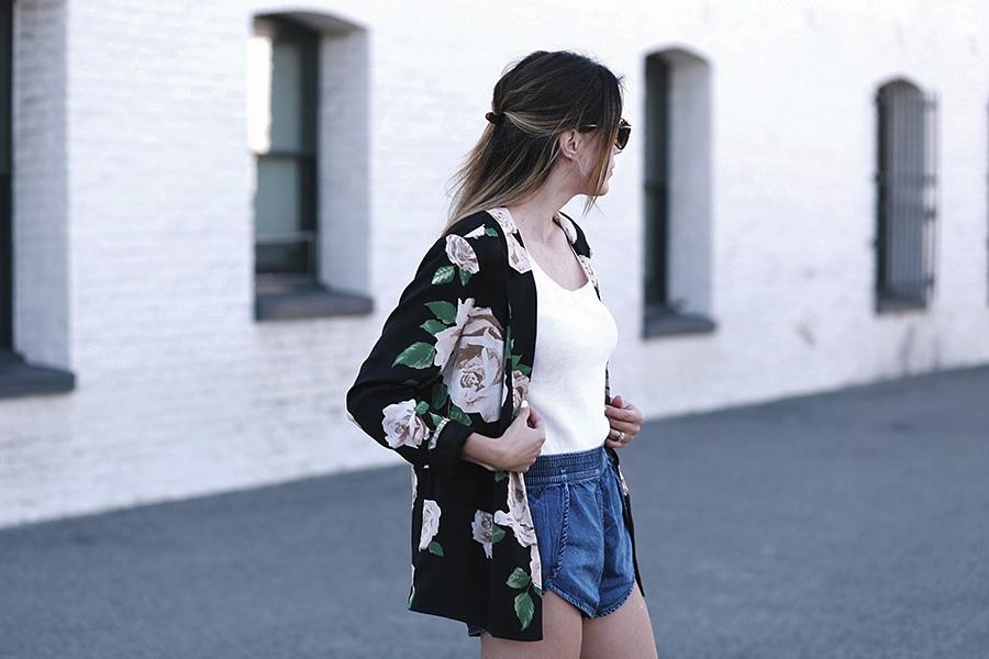 Forever 21 Floral Blazer Tulip shorts Slumlove sweater 4