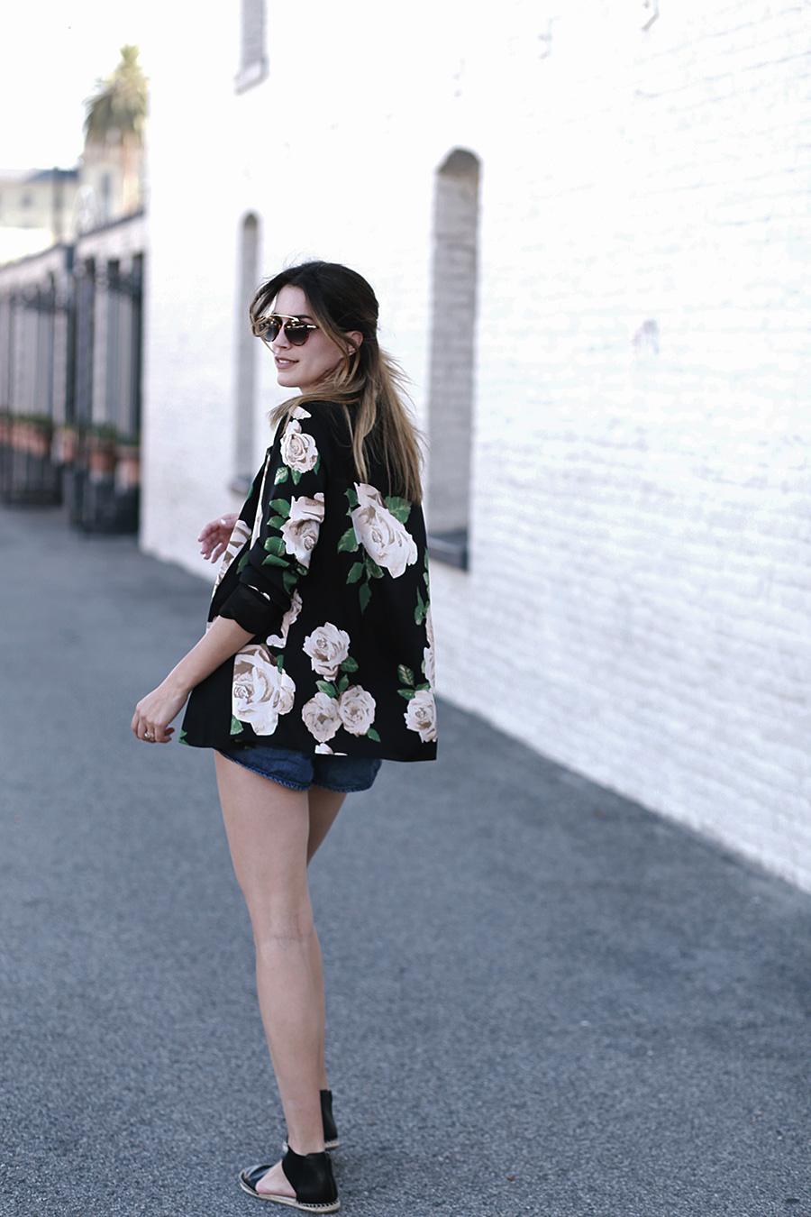 Forever 21 Floral Blazer Tulip shorts Slumlove sweater 8