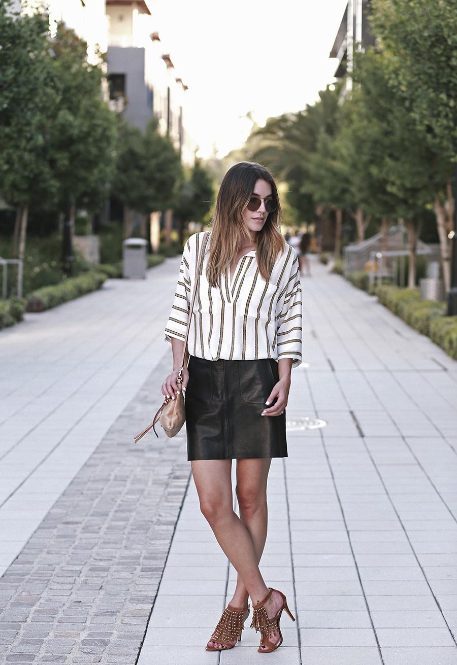 summer leather skirt