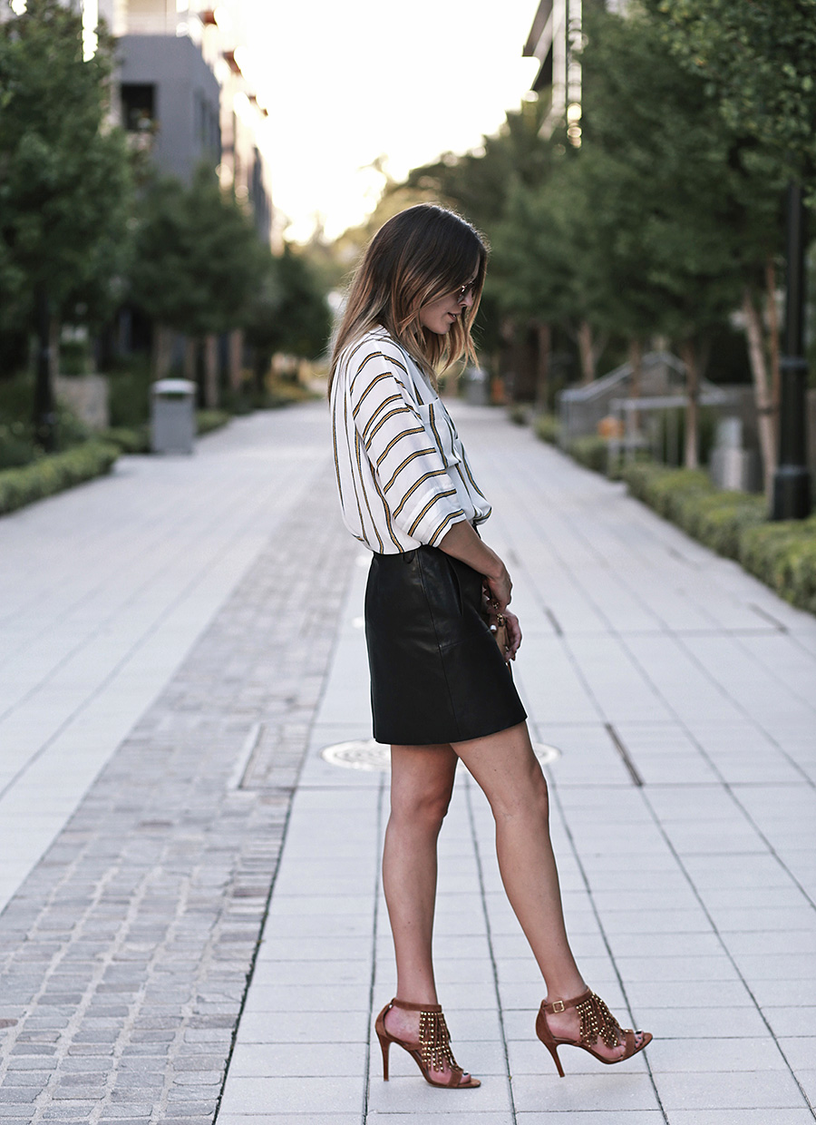 Summer Leather Skirt
