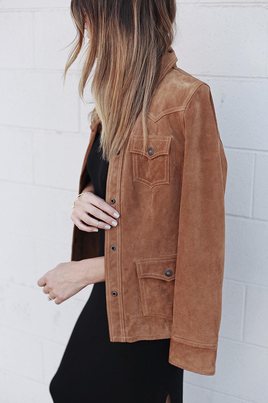 Midi Ring Grey Nails Gap Leather Jacket