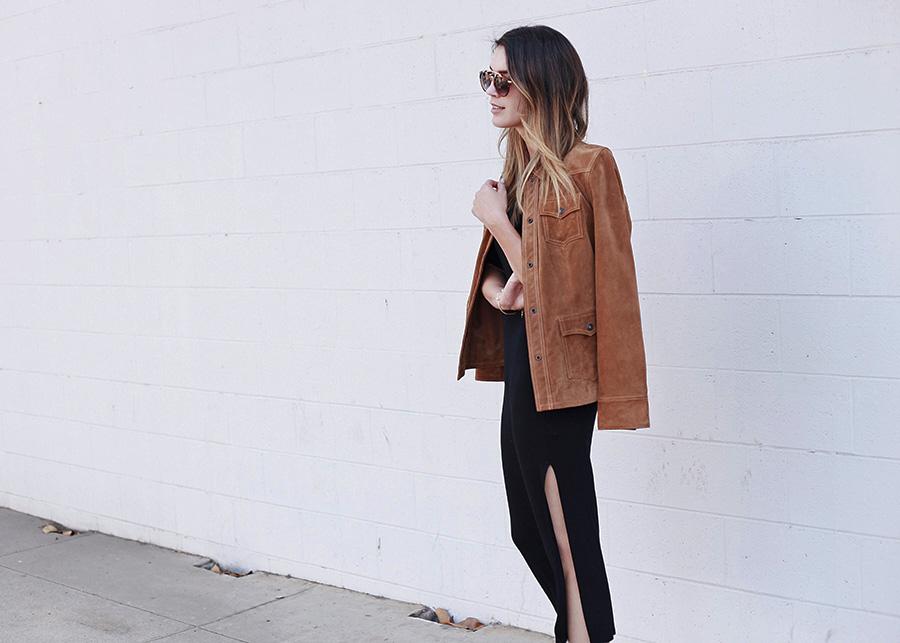 Spoke and Weal Hair Forever 21 midi dress Camel jacket