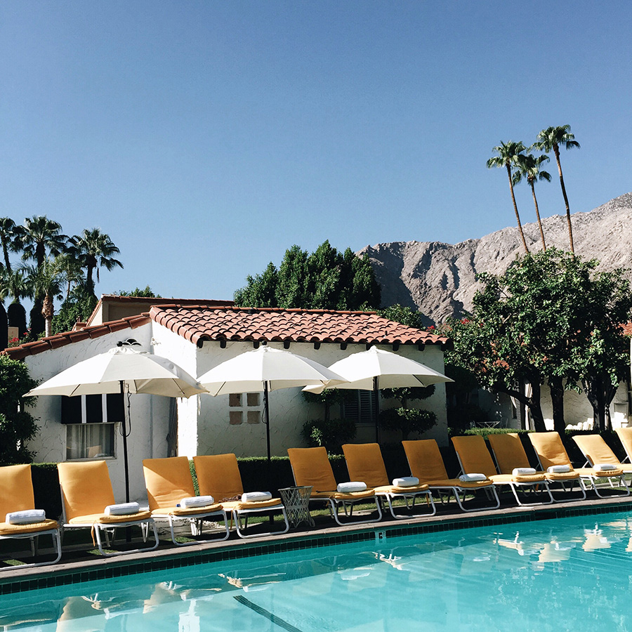 brittanyxavier.com Pool at the Avalon Hotel Palm Springs