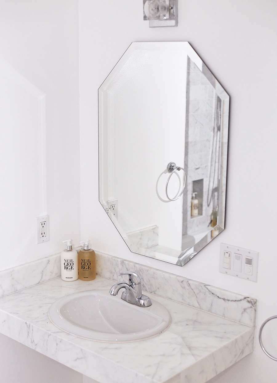 brittanyxavier.com White Marble Bathroom Avalon Hotel Palm Springs