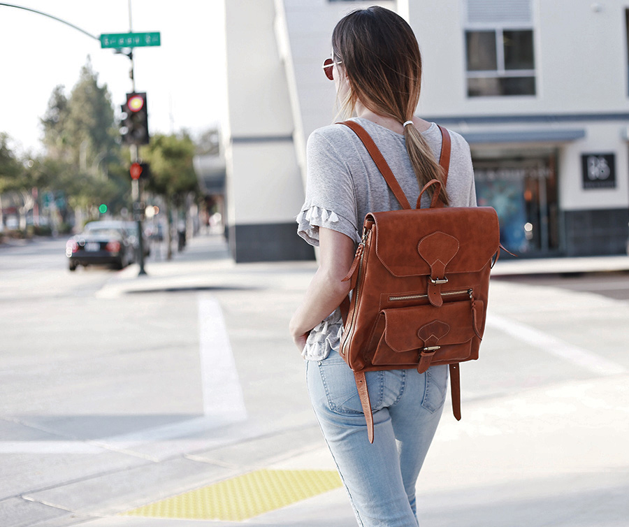 leather backpack fall trends 2015