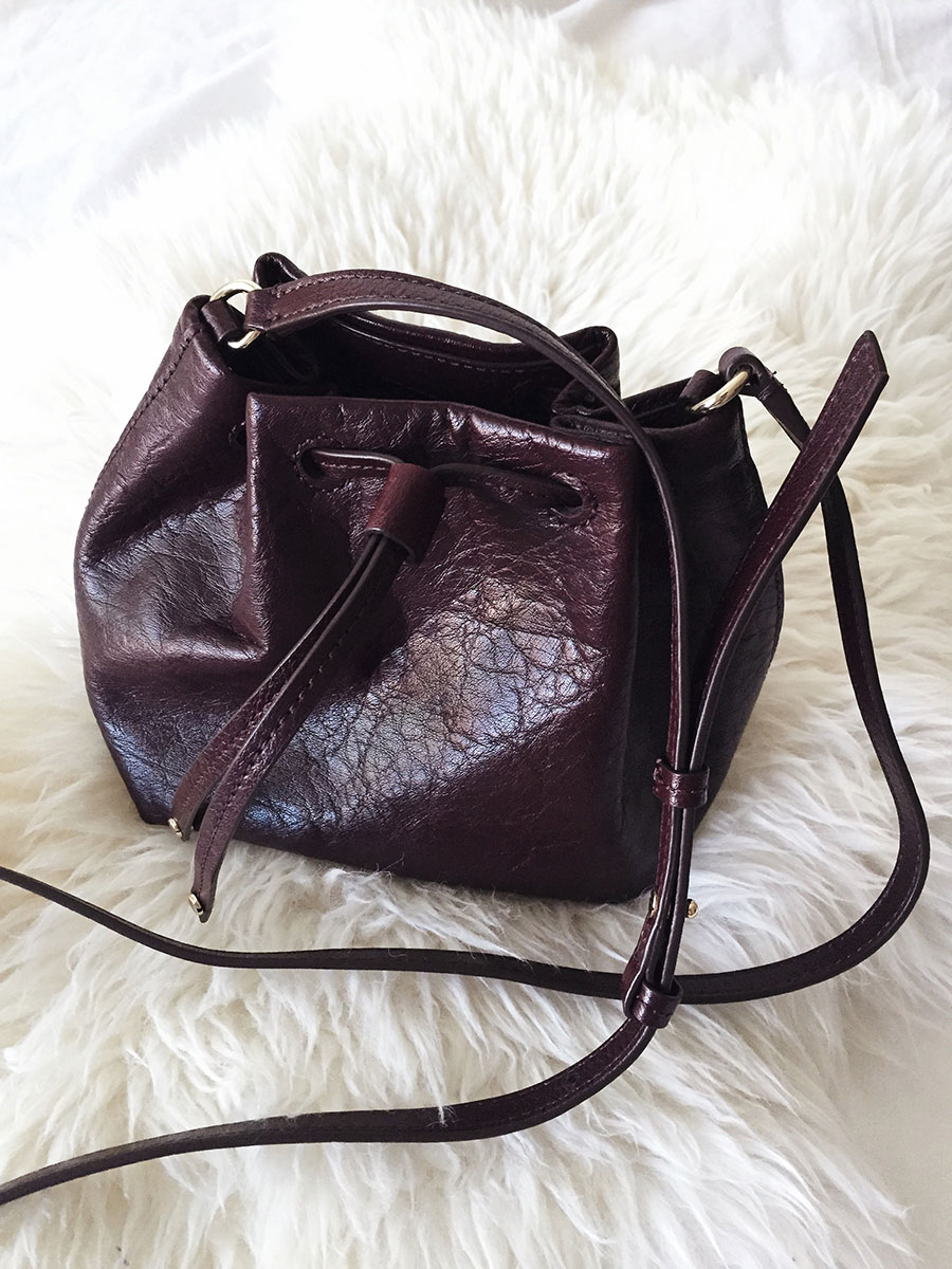 Banana Republic Wine Bucket Bag