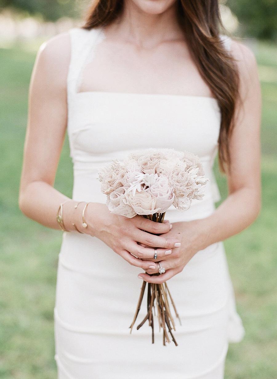 Bridal Bouquet Lace Flowers Wedding