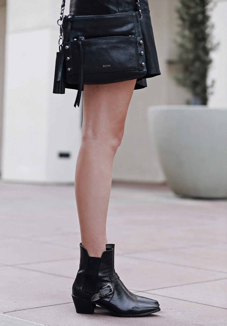 Leather Skirt Leather Ankle Booties