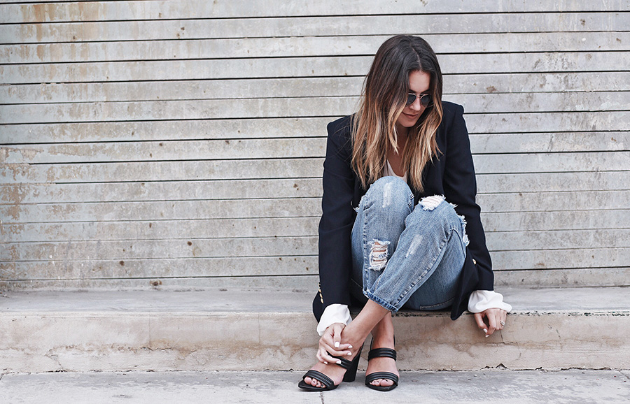 One Teaspoon Ripped Jeans Ombre Hair