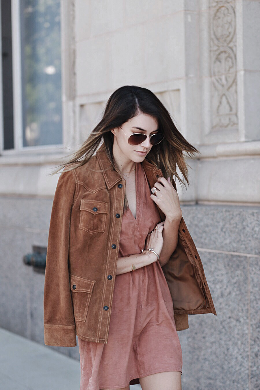 Brittany Xavier Suede Jacket Suede Dress Fall Trends 2015
