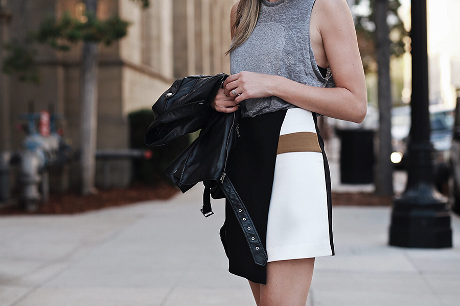 Color Block Skirt Forever 21