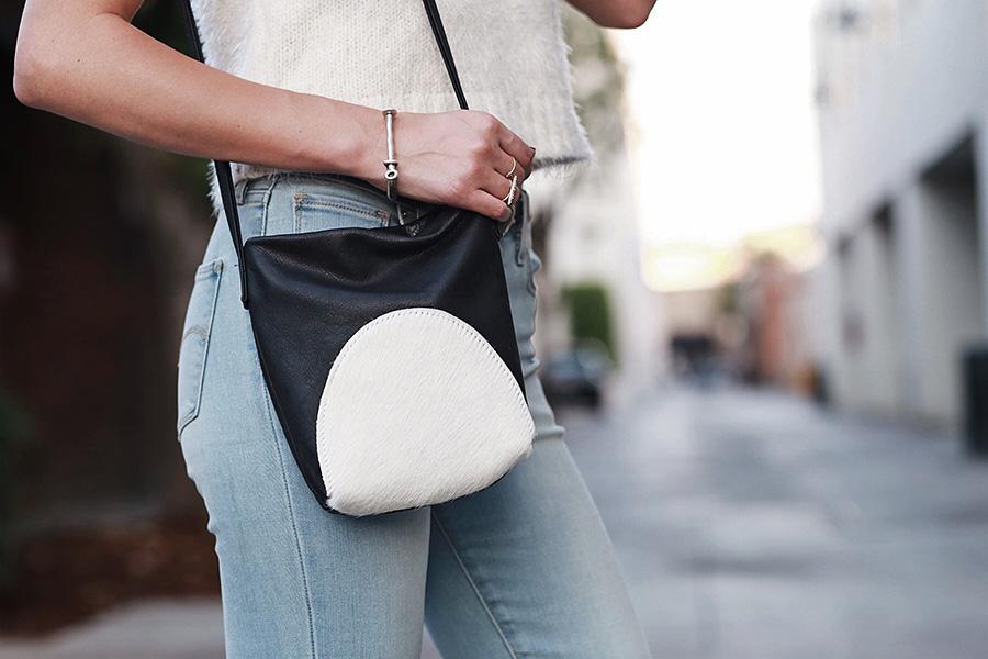 Cowhide Handbag Calfhair Primecut Bags