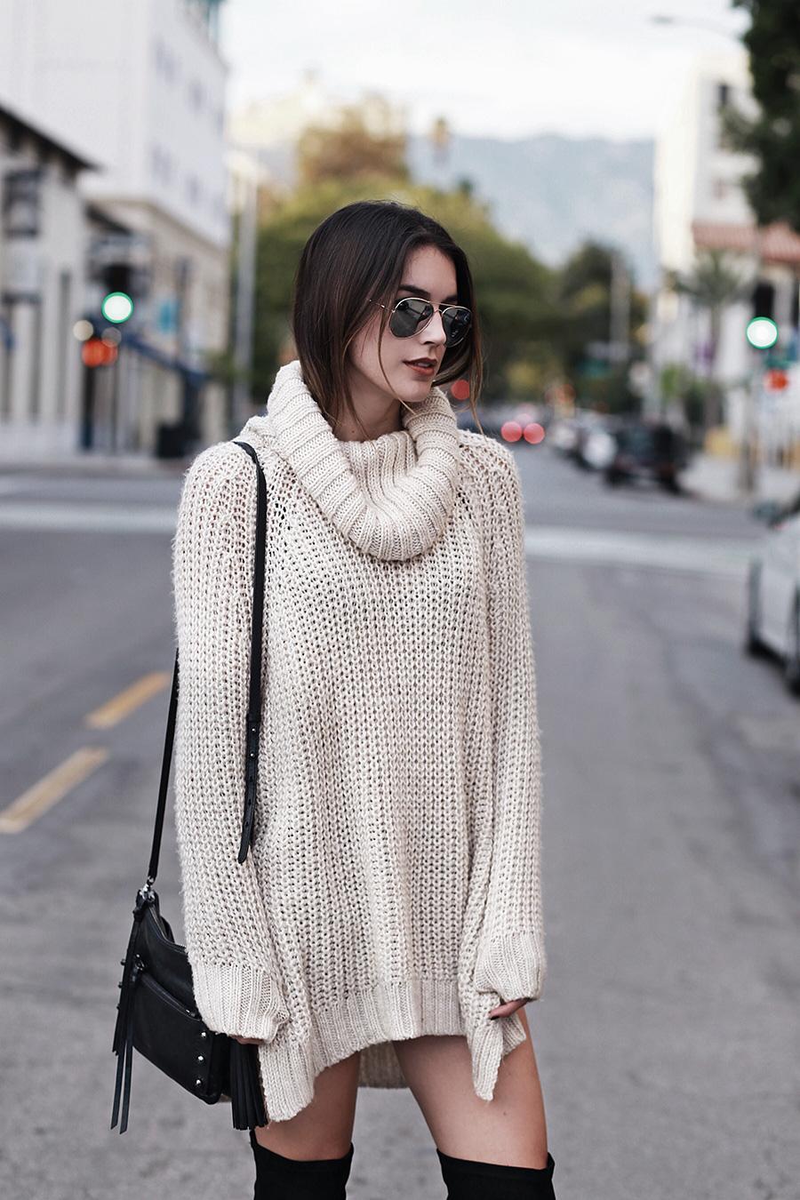 Turtleneck Sweater Tunic Dress brittanyxavier.com