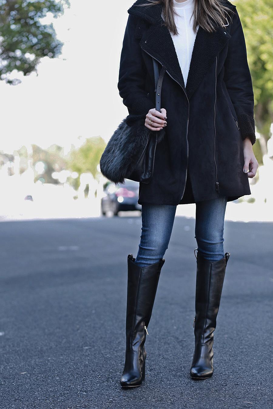 Black Boots Black Coat | brittanyxavier.com