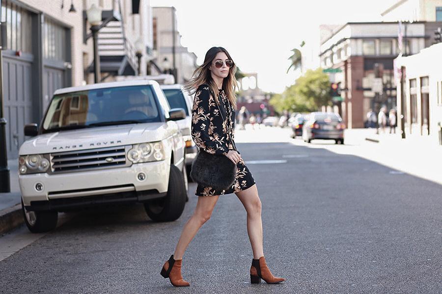Brittany Xavier Fashion Blogger Fall Dress