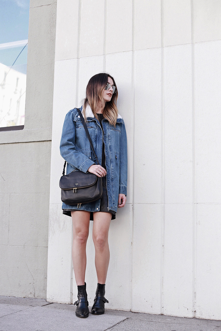 Denim Shearling Jacket Brittany Xavier